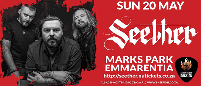 SEETHER ARE ALMOST HERE! TICKETS 95% SOLD OUT!